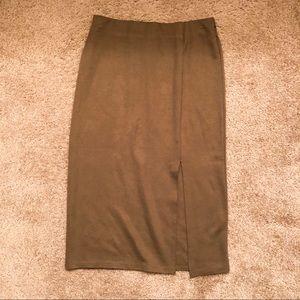 Neutral green brown skirt